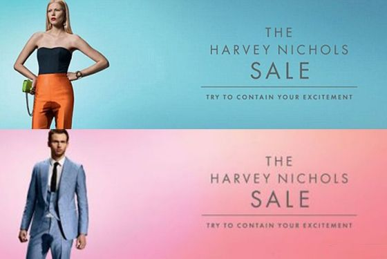 What do you think about these ads?  Harvey Nichols Ad Shows Models Peeing Themselves With Excitement -- The Cut