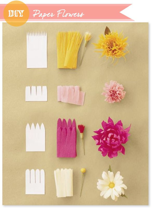 Made with lof: DIY - Paper Flowers