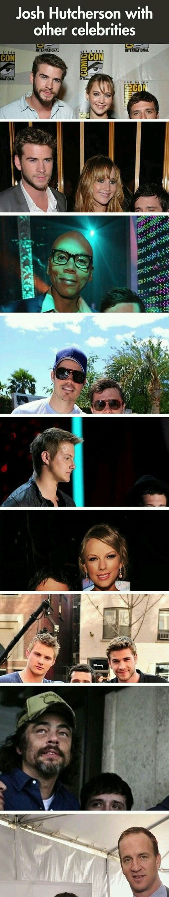 Josh Hutcherson With Other Celebrities