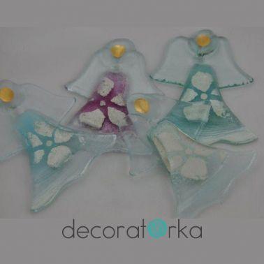 ręcznie robione aniołki ze szkła