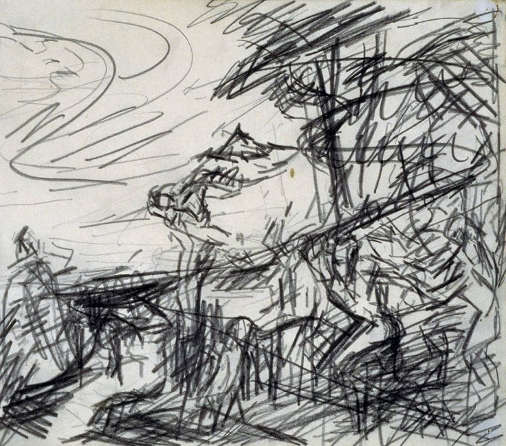 Frank Auerbach drawing. expressive and a rough look into how the drawing is…