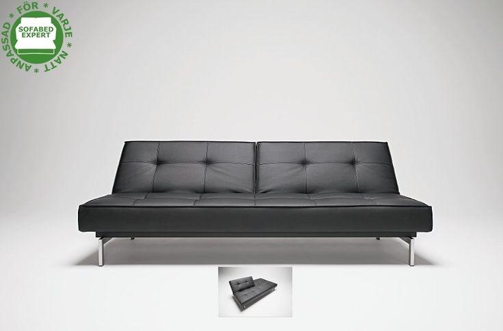 Splitback bäddsoffa i Innovation livings slitstarka lädertextil. En storsäljande klassiker.