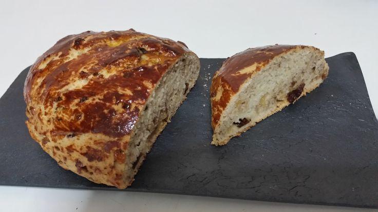 Pan dulce de nueces y pasas. Hecho: riquísimo