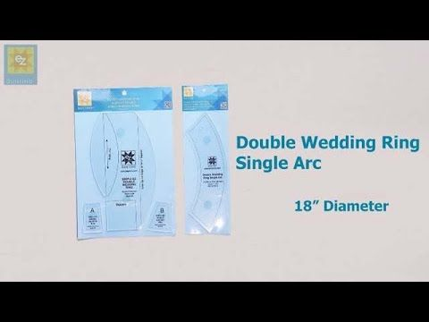 How to use the EZ Quilting Single Arc Double Wedding Ring Template with ...