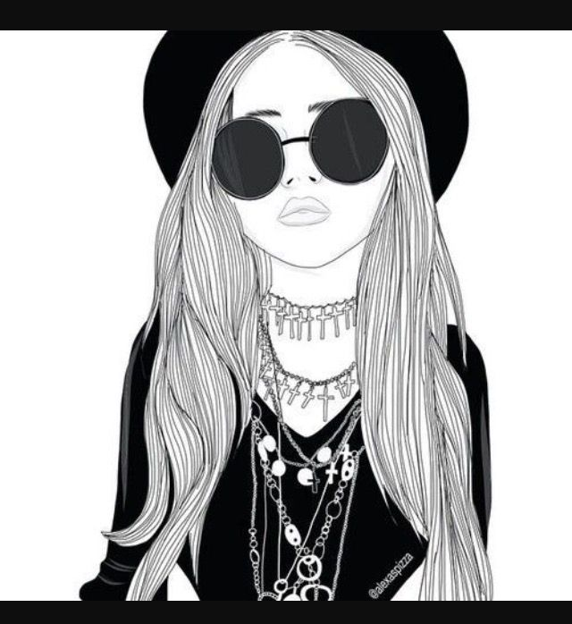 53 best filles swag dessin images on pinterest girl drawings swag fashion girls and drawing - Dessin swag fille ...