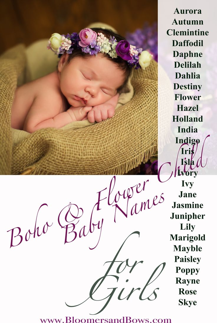 Boho and Flower Child Names that are inspired by Earth and