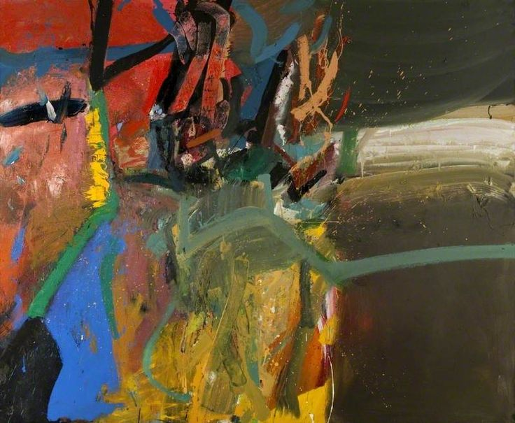 'Into the Storm' (1982-84) by Scottish artist Duncan Shanks (b.1937). Oil on canvas,198.1 x 243.9 cm. via Art UK