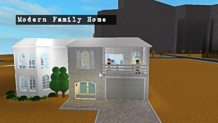 Modern Family Home Roblox Bloxburg Houses Pinterest