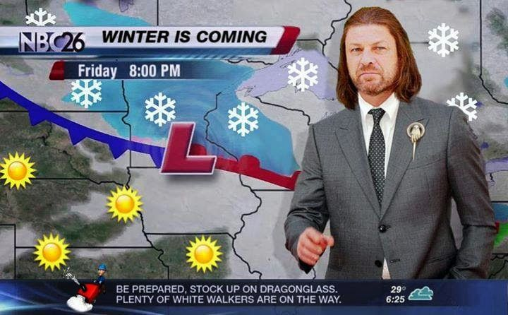 #GameOfThrones Weather Forecast, Winter Is Coming!  Game of Thrones Memes  ...