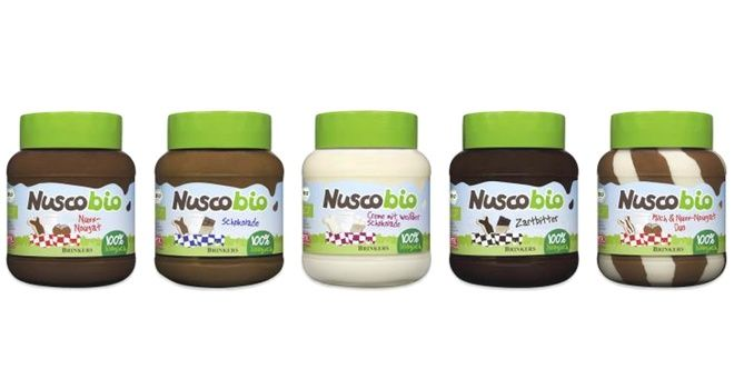 Netherlands-based chocolate specialist Brinkers has launched Nuscobio, a new range of organic, UTZ-certified chocolate spreads.Nuscobio is available in chocolate hazelnut, chocolate, dark chocolate, white chocolate and chocolate duo varieties and comes packaged in glass jars.