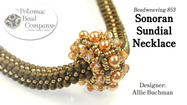 "This video tutorial from Allie at Potomac Bead Company shows you how to make her ""Sonoran Sundial"" necklace design. Find a list of supplies in the descriptio..."