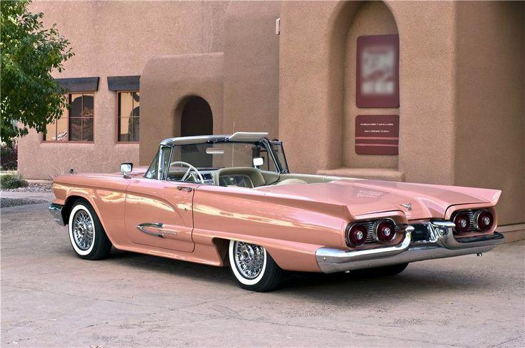 Thunderbird… 1959 convertible in Flamingo