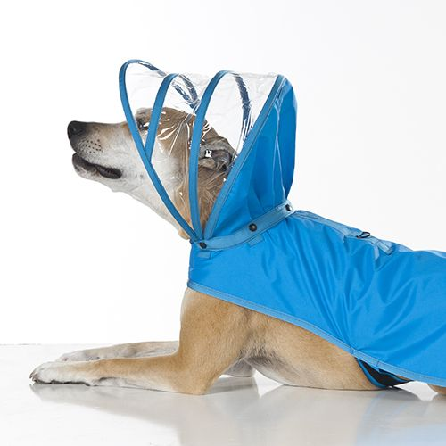 Protect your dog from the harsh weather with Push Pushi's new line of rain gear. The detachable hood is designed to protect your dog's head from the rain like an umbrella without covering her ears or slipping over her eyes. Although, you may be able to push the rain away with this bright and fun rain coat. For custom orders, see our size chart and email us directly.