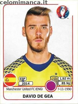 UEFA EURO 2016™ Official Sticker Album: Fronte Figurina n. 354 David de Gea