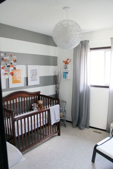 Everetts Grey & White Room with Vibrant Pops