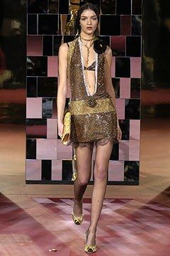Dolce & Gabbana Fall 2004 Ready-to-Wear Fashion Show - Mariacarla Boscono
