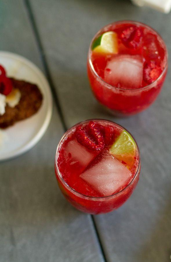 Last Fridays: Sparkling Raspberry Caipirinha   Aida Mollenkamp   #pairswellwithfood
