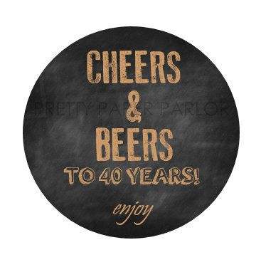 CUSTOM LISTING Cheers and Beers to 40 Years by prettypaperparlor, $25.00
