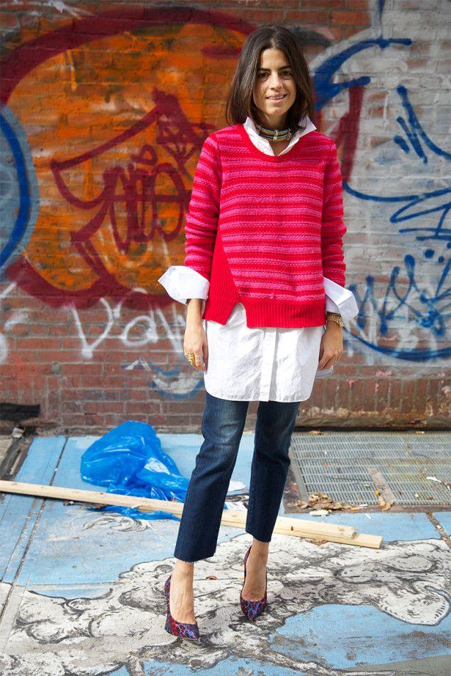 Leandra Medine DIY Your Own Frayed Jeans | Man Repeller