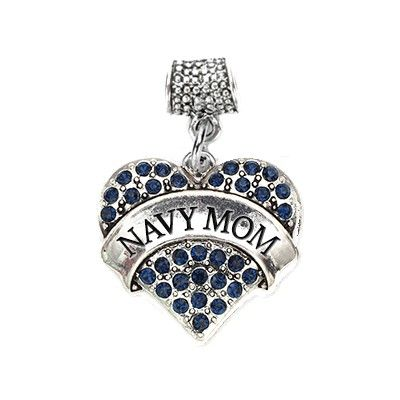 navy pave pandora compatible charm all my