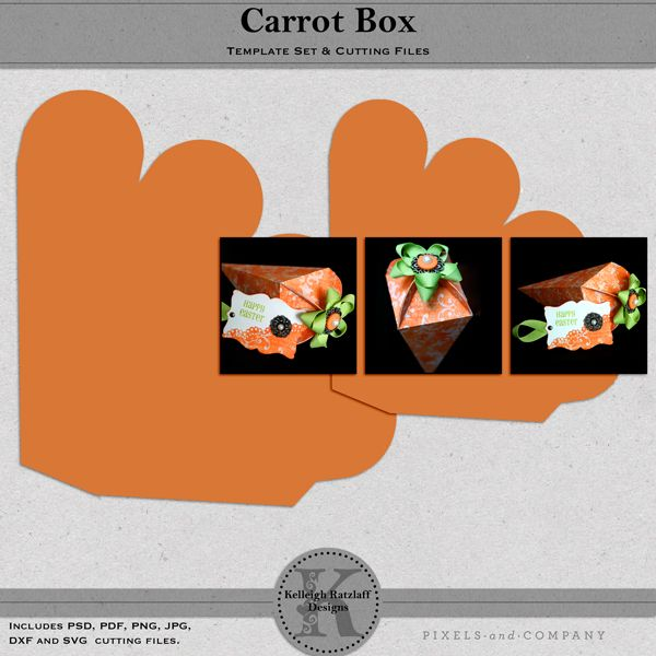 Carrot Box Template Set and Cutting Files