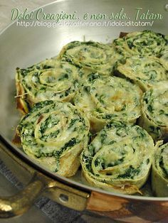 Roll crepes with ricotta and chard