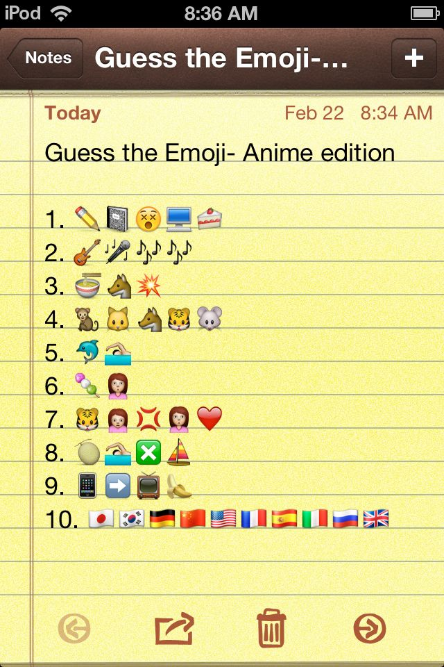 Here's all I can figure out:  1. Deathnote 2. K-on 3. Naruto 4. Fruits Basket 5. Free! 7.Toradora 10. Hetalia