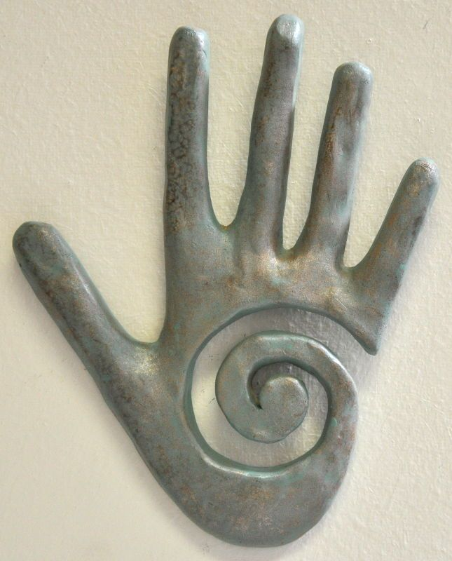 healing hand with spiral