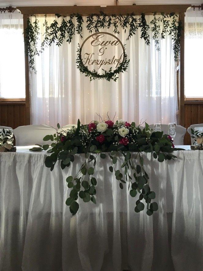 Kolo Dekor Z Inicjalami Imiona Slub 30 7354381318 Oficjalne Archiwum Allegro Head Table Wedding Wedding Venue Decorations Wedding Table