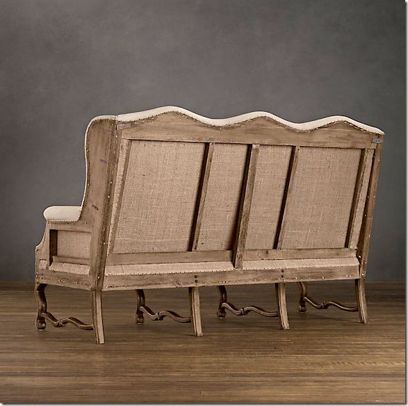 Deconstructed -- I'm sharing in the shock that unfinished new faux is costing more than finished antique from Restoration Hardware.