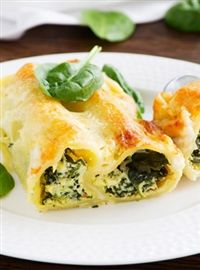 Weigh-Less Online - Chicken And Spinach Cannelloni