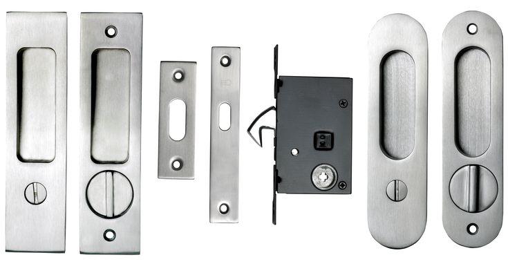 Pocket Door Keyed Lock Hardware
