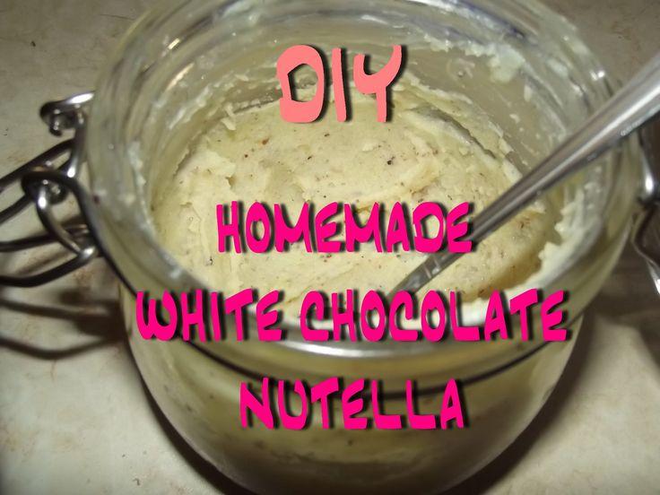 DIY - Homemade WHITE CHOCOLATE NUTELLA / Σπιτική ΛΕΥΚΗ ΜΕΡΕΝΤΑ