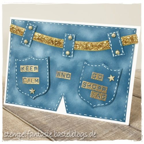 Stampin Up_Karte_Card_keep calm and go shopping_Jeans_Jeansblau_stempelfantasie