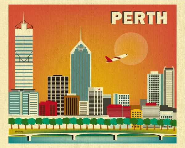 Perth, Australia is available in an array of finishes, materials, and sizes, this retro inspired wall art will make Perth feel close to your heart with its bright color palette and unique design. You