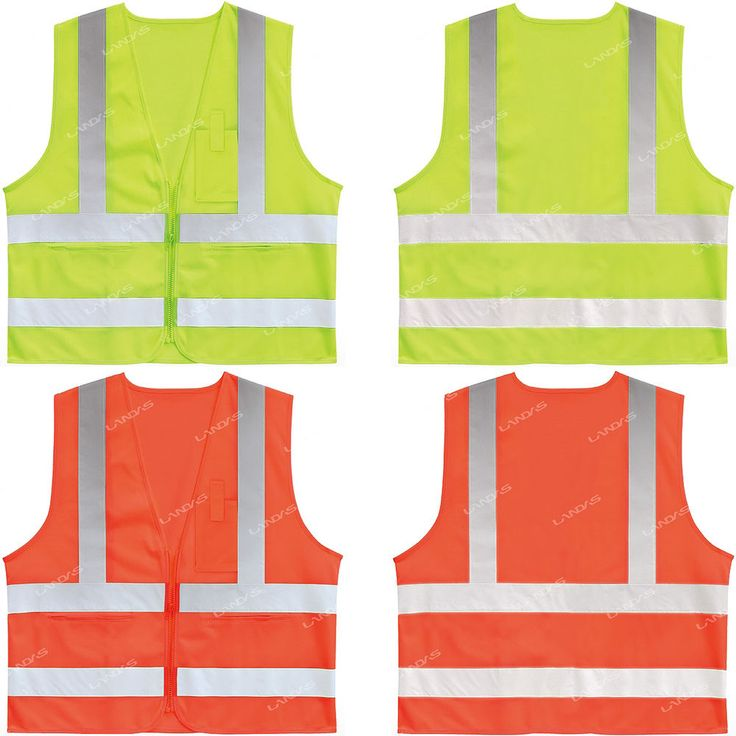 New High Visibility Safety Security Reflective Construction Traffic Vest CLASS 2 #hellobincom