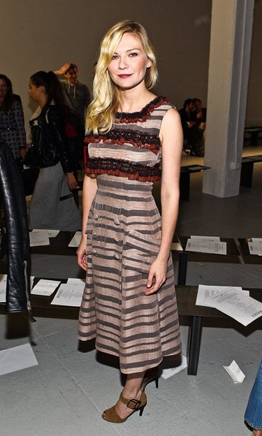 NYFW Edition: Kirsten Dunst in Rodarte at the Rodarte Spring 2013 Front Row.: Celebrity Style, Rodart Dresses, Kirsten Dunst, Celebs Fashion, Fashion Week, New York Fashion, Celebrity Fashion, Favorite Celebrity, Front Row