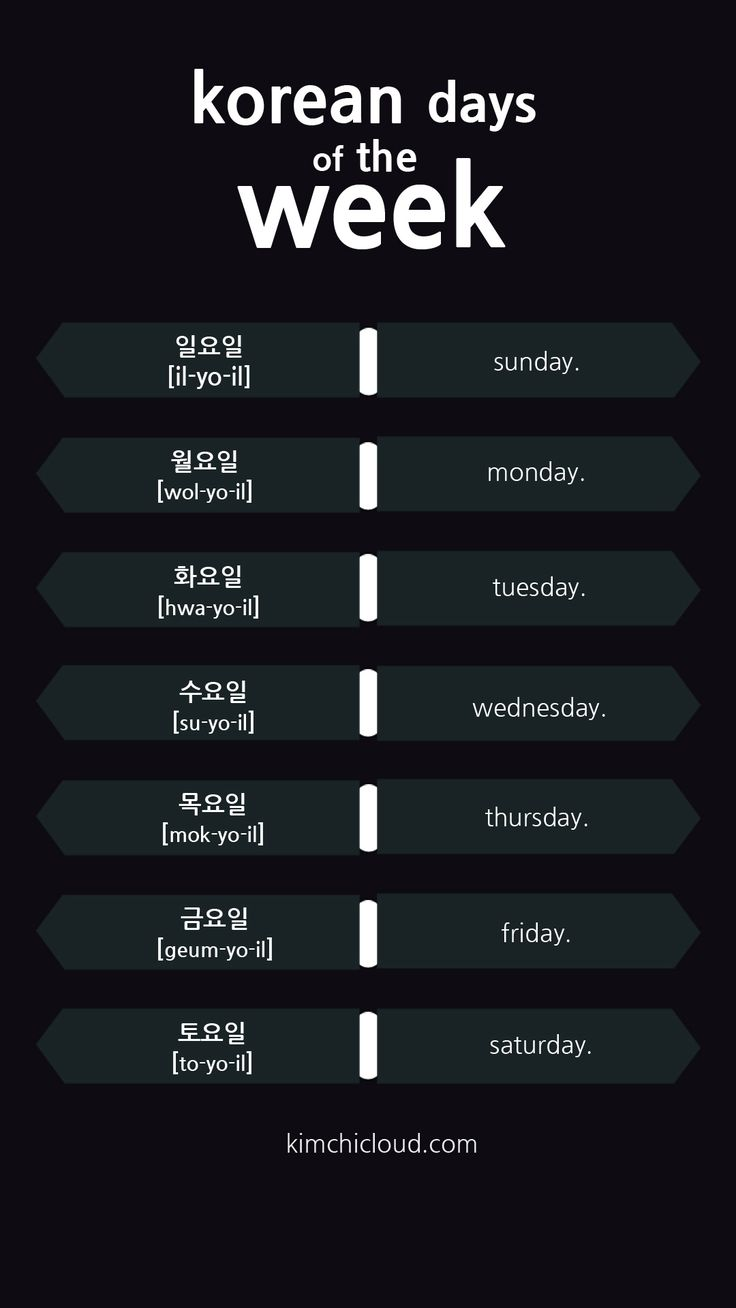 In this lesson we will introduce the words for the days of the week in Korean. These words have their roots in the Chinese language and the elements of nature.