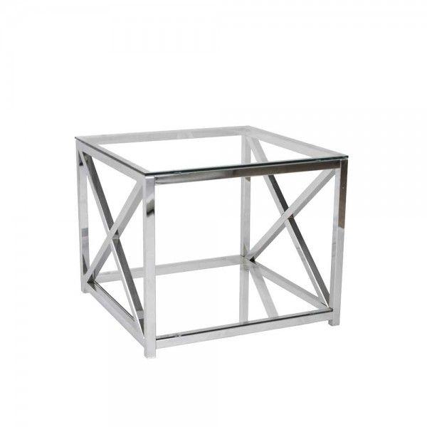 Glas Beistelltisch Zoreca Aus Metall Verchromt 60 Cm Sofa Tisch Tisch Beistelltisch