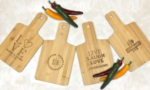 Groupon - Personalized Bamboo Serving or Cutting Board from Monogram Online (Up to 87% Off). Groupon deal price: $5