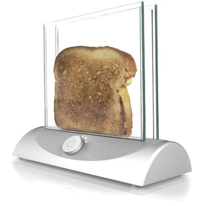 Transparent Toaster gives you clear view of bread's crispiness.