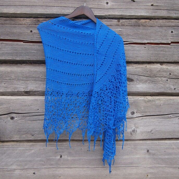 New color 💙💙💙 New shawl 😍😍😍