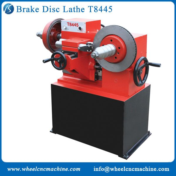 Brake drum lathe machine T8445 is widely used to repair brake disk and brake drum of cars, buses and trucks, its maximum processing diameter is 450mm. It is high efficiency, easy operation and energy saving.  Brake drum lathe machine is the effective machine tool for the car repair shop.