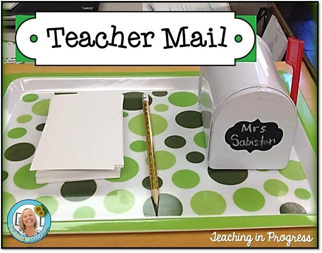 "Love this idea of using a mailbox to collect ""notes"" from parents from the kids each morning."