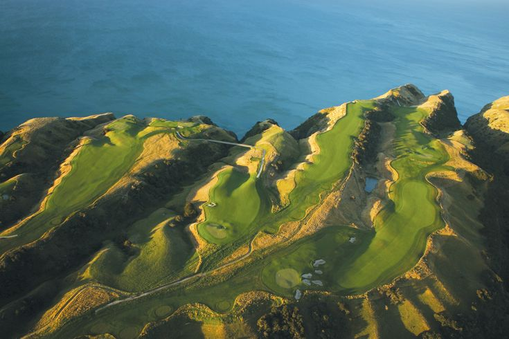 "A look at the ""fingers"" at Cape Kidnappers, Hawkes Bay, New Zealand"