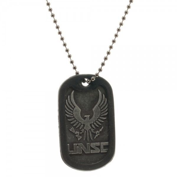 UNSC Dog Tag Chain Necklace - HALO Video Game Officially Licensed Bioworld…