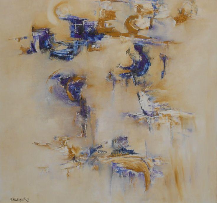 """""""Una otra dimensión - Silvia Hilerowicz - Oleo sobre tela - 80 x 80 cm  www.esencialismo.com"""