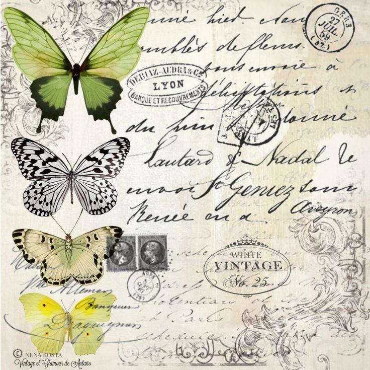 1000 ideas about decoupage vintage on pinterest - Laminas decorativas vintage ...