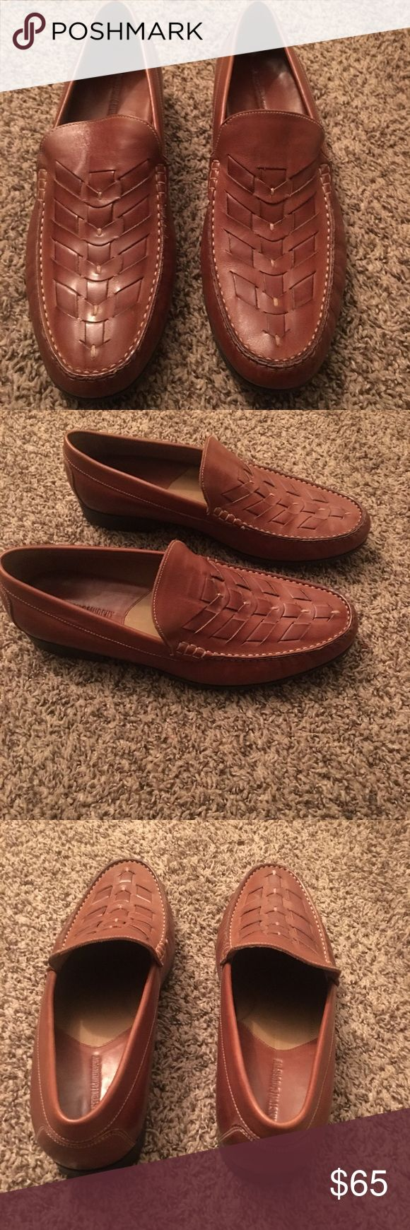 🎉🎉🎉 Johnston Murphy Braided Leather Loafers A beautiful braided leather loafer in excellent used  condition Sz 10.5 please ask all questions before buying no refunds Johnston & Murphy Shoes Loafers & Slip-Ons