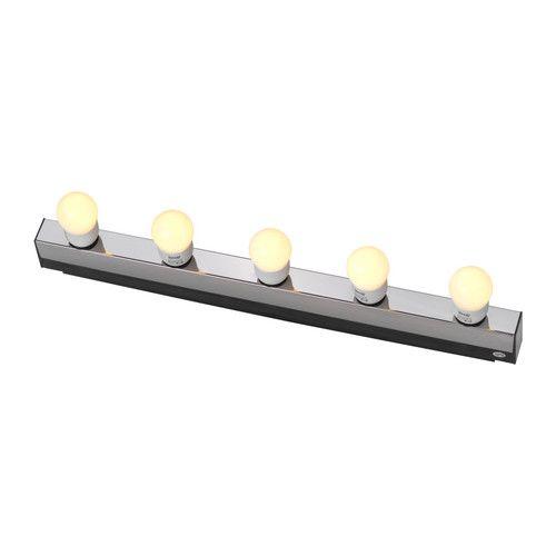MUSIK Wandleuchte IKEA Perfekt als beidseitige Spiegelbeleuchtung für blendfreies Licht beim Schminken, Rasieren usw.